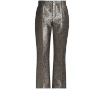 Brocade Straight-leg Pants Mushroom