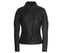 Paneled coated-cotton jacket