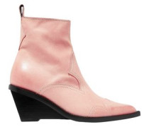 Nubuck Wedge Ankle Boots Pastel Pink