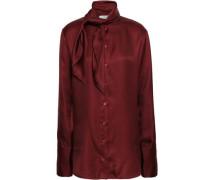 Silk-twill Shirt Burgundy