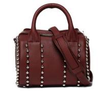 Rockie studded textured-leather shoulder bag