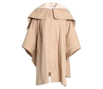 Cotton-gabarine hooded jacket