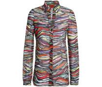 Cotton-blend crochet-knit shirt