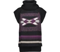 Navajo intarsia-knit turtleneck sweater