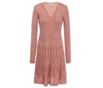 Woman Crochet-knit Wool-blend Dress Antique Rose