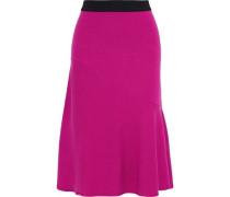 Tassia Ribbed-knit Skirt Fuchsia