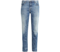 Faded Mid-rise Slim-leg Jeans Mid Denim  8