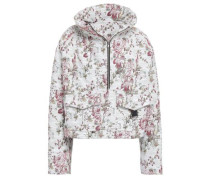 Cotton-blend floral-jacquard jacket