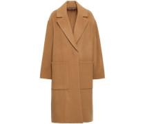 Wool-blend Felt Coat Camel