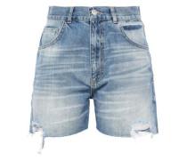 Distressed Denim Shorts Mid Denim  9