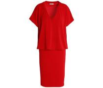 Layered crepe mini dress