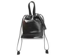 Faux Leather Bucket Bag Black Size --