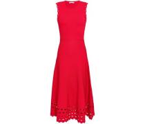 Rumba Laser-cut Ponte Midi Dress Red Size 1