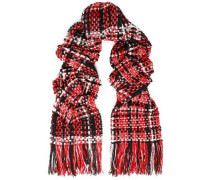 Tweed Scarf Red Size --