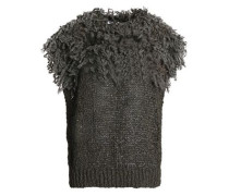 Fringed open-knit top