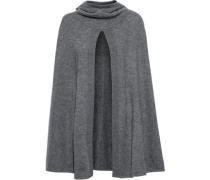 Madison Split-front Cashmere Hooded Cape Anthracite Size ONESIZE