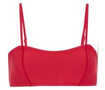 Neoprene Bandeau Bikini Top Crimson