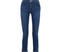Luna Cropped High-rise Slim-leg Jeans Mid Denim  3