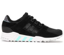 Eqt Support Rf Suede And Mesh Sneakers Black