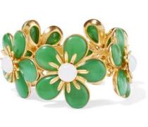 Gold-plated resin bracelet