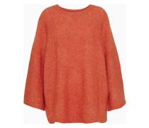 Riksos Oversized Mélange Knitted Sweater Orange