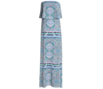 Aeryn strapless printed stretch-modal jersey maxi dress