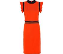 Jasey ruffle-trimmed cotton dress