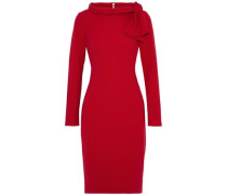 Knotted Ponte Dress Red Size 14