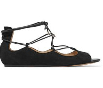 Barbara lace-up suede sandals