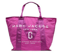 Printed Canvas Tote Magenta Size --