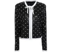 Embellished Sequined Jacket Black