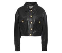 Woman Bacchu Cropped Leather Jacket Black
