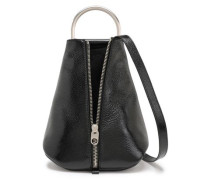 Woman Textured Patent-leather Backpack Black