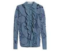 Cotton-blend chambray shirt