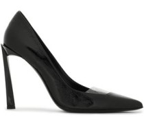 Woman Pvc-paneled Patent-leather Pumps Black
