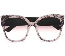 Square-frame Floral-print Acetate Sunglasses Pastel Pink Size --