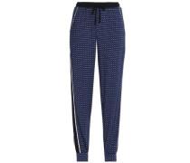 Printed stretch-modal jersey pajama pants