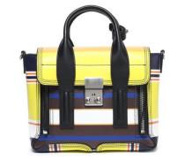 Pashli mini striped leather shoulder bag