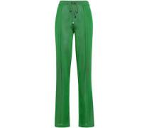 Stretch-knit Straight-leg Pants Green