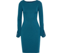 Azura Guipure Lace And Stretch-jersey Dress Petrol