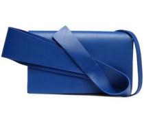 Bow-embellished leather shoulder bag