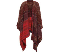Cashmere, Silk And Wool-blend Poncho Merlot Size ONESIZE