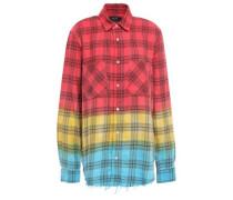 Woman Checked Cotton-flannel Shirt Multicolor