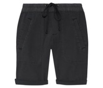 Stretch Cotton And Modal-blend Twill Shorts Charcoal Size 0