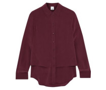 Michelle layered washed-silk shirt