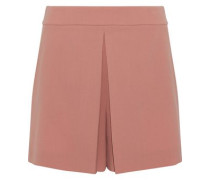 Pleated crepe shorts