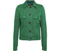 Crochet-knit Jacket Green