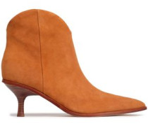 Suede Ankle Boots Tan