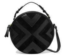 Woman Raika Textured-leather And Suede Shoulder Bag Black