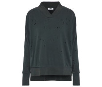 Lake distressed French cotton-terry sweatshirt